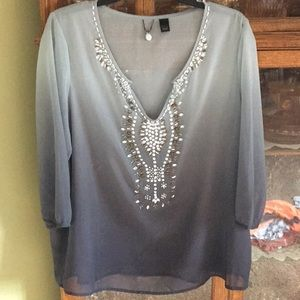 BKE Boutique Embellished Shirt